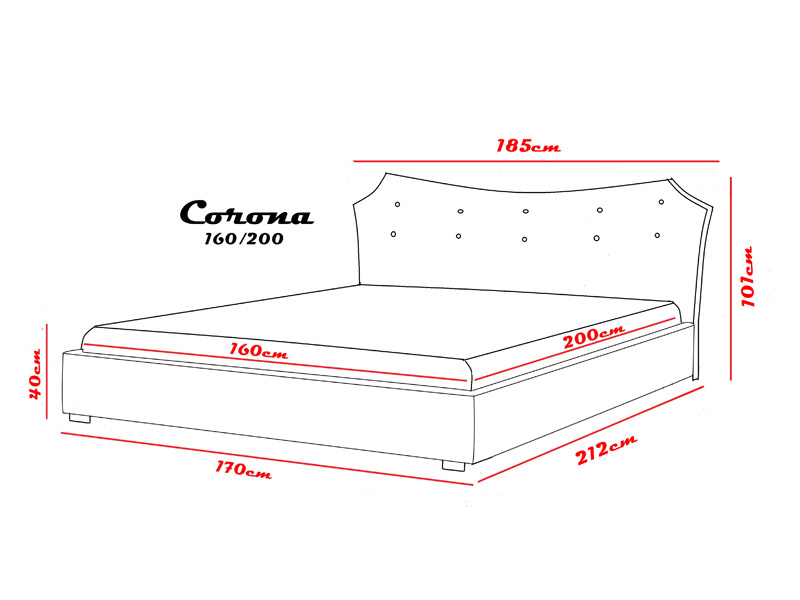 Łóżko Corona